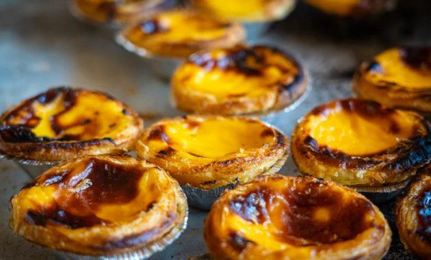 Portugál puding tart